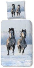 Kinderbettwäsche, Good Morning, »Schnee Pferd«, mit Schneepferdenmotiv