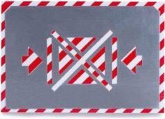 BVG Sjabloon | Verbod zijwaarts optillen | Aluminium | 100mm