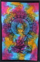 FMC gifts Eenpersoons katoenen sprei + muurbevestiging - Peaceful Buddha 130cm x 200cm