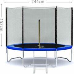 Zwarte EASTWALL - Veiligheidsnet voor trampoline - Diameter 244 cm - EU (veiligheid) productie