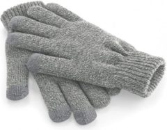 Licht-grijze Bellatio Touchscreen handschoenen lichtgrijs L/xl