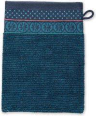 Blauwe Pip Studio badgoed Soft Zellige dark blue - Washand 16x22 cm