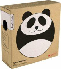 Zwarte Leschi warmtekussen rond - Bao de Panda