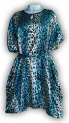 Blauwe Merkloos Dames Nachtmode kimono One Size