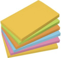 Sigel Plaknotitie MU121 125 mm x 75 mm Geel, Groen, Oranje, Blauw, Roze 6 blokken/pak 100 vellen