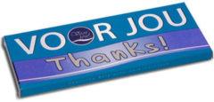 Voor Jou! Wensreep melkchocolade voor jou! thanks 70 Gram
