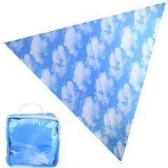 Blauwe Esschert Design Zonnescherm met luchtprint