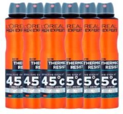 L'Oréal Paris Men Expert L'Oréal Paris Men Expert Thermic Resist Deodorant Spray - 6 x 150 ml - Voordeelverpakking