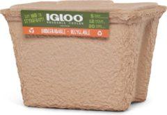 Zandkleurige Igloo Recool 's wereld eerste biologisch afbreekbare koelbox (15 liter)
