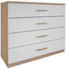 Young Furniture Commode Selena 100 cm breed - eiken met wit
