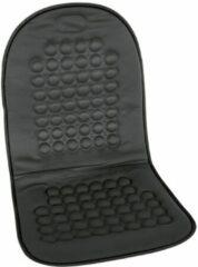 Zwarte Carpoint stoelkussen met bolletjes 90 x 45 cm zwart