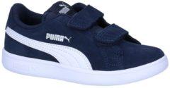 Witte PUMA Smash v2 SD V PS Kinderen Sneakers - Peacoat-Puma White - Maat 35