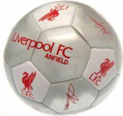 Rode Liverpool F.C Liverpool Voetbal handtekeningen maat 5 zilver