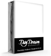 Day Dream hoeslaken - strijkvrij - katoen - 180 x 220 - Wit