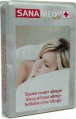 Witte Sanamedi Gold matrashoes 80x210x25 cm - anti allergie - huisstofmijt en allergeenstofdicht