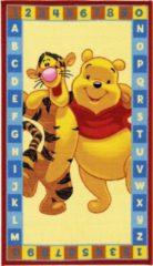 Gele Disney Winnie de Poeh - Vloerkleed ABC 140x80 cm