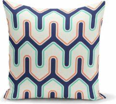 Blauwe Zijou Uniek ontwerp decoratieve sierkussen 45x45cm