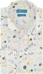 District Indigo Overhemd En-Joy Wit (7.02.025.003.307)