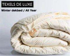 Witte SleepNext Texels de Luxe Winter dekbed 100% Scheerwol - 200x200cm