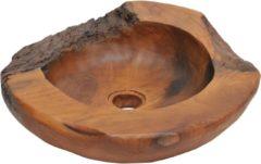 Bruine VidaXL Wasbak massief teak 45 cm