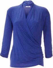 Shirt met V-hals en 3/4-mouwen Van Peter Hahn turquoise