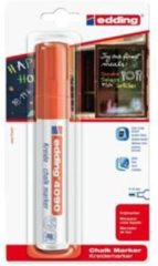 Edding Krijtmarker e-4090 - Rood - 1 stuk - krijtmarkers - raamstift - raamstiften - chalkmarker - – krijtstift – glasstift – schoolbordstift – krijtbordstift – stoepbordstift