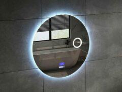 Mawialux LED Spiegel - 80cm - Rond - Verwarming - Digitale Klok - Bluetooth - ML-80NMR