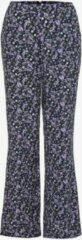 Paarse TwoDay dames broek met bloemenprint