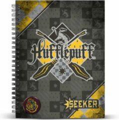 Gele Harry Potter Quidditch Hufflepuff A4 Notebook