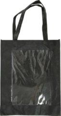 Creativ company Tas met plastic voorkant afm 42x34x12 cm zwart 1stuk