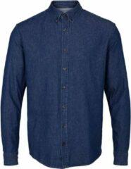 Kronstadt Heren Overhemd Johan Blauw Denim Stretch Regular Fit - XXL