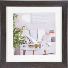 Donkerbruine Henzo Modern - Fotolijst - 20x20 cm - Fotoformaat 20x20 / 15x15 cm - Donker Bruin