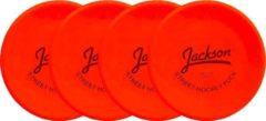 Jackson Set van 4 Hockey Pucks Indoor - Effen Grond - Oranje