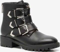Blue Box dames biker boots - Zwart - Maat 36