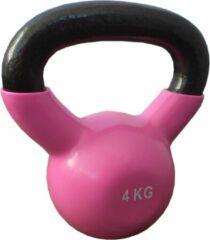 Kettlebells 4 kg gietijzer - Roze | 1 stuk | Mambo Max | Gietijzer