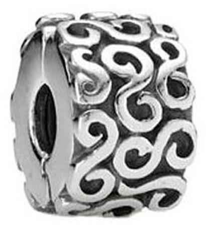 Afbeelding van Pandora bedel Clip-stopper zilver 'Krulletjes' 790338