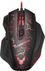 Zwarte Indena X7 Professionele verlichtende gaming muis voor Computer PC Laptop