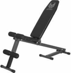 Zwarte Gorilla Sports Gyronetics Buikspierbank - Halterbank - Fitnessbank - Verstelbaar - Belastbaar tot 100 kg