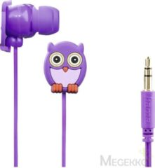 "Hama ""Owl"" Kids' Stereo Earphones, 3.5mm, 1.2m, 20 - 20000Hz, 82dB/mW, Purp (00177024)"