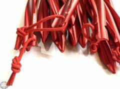 Rode Haringboer 25cm 7075-T6 aluminium twistharingen - Tentharingen inclusief haringzak