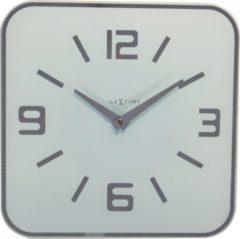 NeXtime Shoko - Klok - Stil Uurwerk - Vierkant - Glas - 43x43 cm - Wit