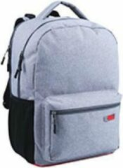 Grijze Lannoo Rugzak qc bags 42cm light grey/rosso