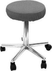 Donkergrijze Mega Beauty Shop® Hoes voor krukken werkstoel Donker grijs - Beschermhoes