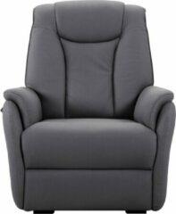 Donkergrijze Lnl-medicare Senioren Sta-op elektrische relaxstoel - Benidorm - Stof - 2 motoren – 4 kleuren