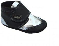Zwarte Baby Paws babyslofjes Robin Zwart Zilver maat 3 = ( 12 cm)
