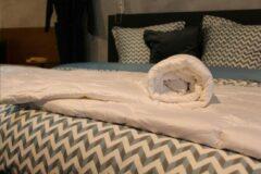 Witte Wollen dekbed 4-Seizoenen   Loiva 100% zuiver scheerwol 260 x 220 cm - Lits-jumeaux XL