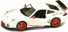 Porsche 997 GT3 RS Mark 2 (Wit/Rood) (20 cm) 1/24 Lucky Die Cast - Modelauto - Schaalmodel - Modelauto - Miniatuurauto - Miniatuur autos