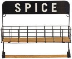 Zwarte Xenos Keukenrekje spice - 35x10x30 cm