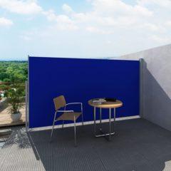 Blauwe VidaXL Uittrekbaar wind- / zonnescherm 160 x 300 cm (blauw)
