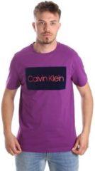 Paarse T-shirt Korte Mouw Calvin Klein Jeans K10K103012